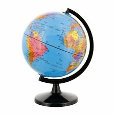 Tcp Global Ocean Blue Durable Desktop Earth World Globe On Stand 6 in Black Base