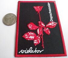 New Depeche Mode Violator Rose Embroidered Iron On Patch (Music, Band, 1980's)