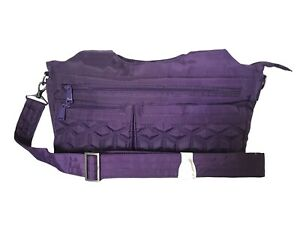 NEW WOT Lug Streetcar ~ Purple Shoulder Bag with Detachable Crossbody Strap