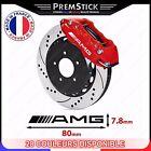 Kit 4 Stickers Etrier de Frein AMG ref2; Auto voiture autocollant