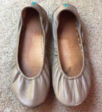 Tieks Taupe Neutral Leather Ballet Flats Shoes Size 8 Authentic