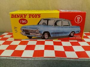 Dinky Toys 196 Holden  EJ  Sedan EMPTY Reproduction BLUE BOX ONLY NO CAR