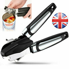 Heavy Duty Stainless Steel Tin Can Opener Cutter Easy Comfy Handle Grip Kitchen