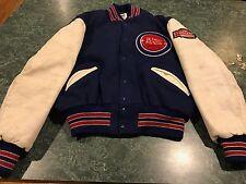 Vintage Detroit Pistons DeLong NBA Basketball Letterman Jacket Coat - Size 46 Sm