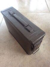 SV479 MILITARY NATO H84 Mk1 RTB 1968 metal CARTRIDGE Box Case Brown Enamel