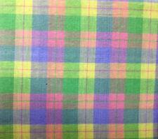 "Pastel Plaid Check Spring Decor Tablecloth 60""x84"" OVAL Plaid Checked Tablecloth"
