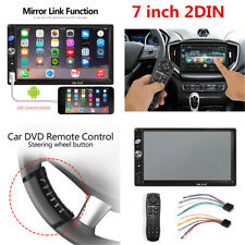 7inch HD 2DIN Car Stereo Radio Bluetooth FM MP5 Player w/Steering Wheel Control