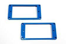 Marcos pastillas humbucker planos azules - Blue Flat Mounting Rings Set