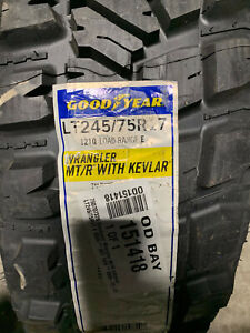 1 New LT 245 75 17 Goodyear Wrangler MT/R with Kevlar 10 Ply Mud Tire