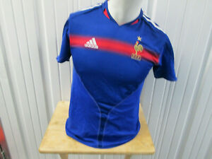 VINTAGE ADIDAS FRANCE NATIONAL FOOTBALL TEAM YOUTH XL SEWN JERSEY 2002/03 KIT