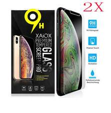 2X Für iPhone Xs Max 5s 6s 7 8 Plus 3D Gehärtetes Glas Display Schutzfolie klar