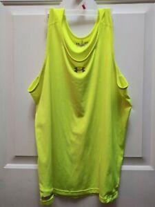 Under Armour Women's UA Heatgear Tank. Safety Yellow.  Size L
