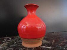 Vase soliflore céramique terre cuite émail fait main art déco XXe PN France