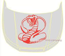 1pcs red snake motor racing Vinyl emblem Car auto motor hood side sticker Decal