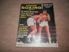 Inside Boxing Magazine Cassius Clay Muhammad Ali Cover Winter 1964 Sonny Liston