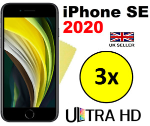 3x HQ CLEAR HD SCREEN PROTECTOR COVER LCD FILM GUARD FOR APPLE IPHONE SE 2020