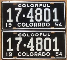 1954 Colorado License Plate Number Tag PAIR Plates