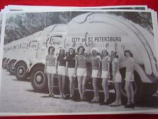 NEW 1946 MACK TRASH TRUCK FLEET & GIRLS ST PETERSBURG FL  11 X 17  PHOTO PICTURE