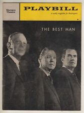"Gore Vidal  ""The Best Man""  Playbill  1960  Broadway  Melvyn Douglas,  Lee Tracy"