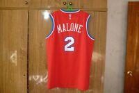 Philadelphia 76ers Champion NBA Jersey #2 Moses Malone Basketball Men Size XL