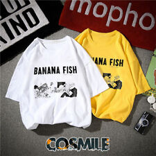 BANANA FISH Ash Lynx Eiji Okumura Cosplay Casual T-shirt Top Tee Anime