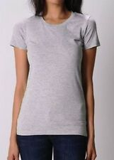 Womens Size 12 To 26 Soft Stretch Cotton Crew Neck Grey T-shirt Top ⭐️LICK⭐️
