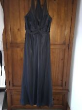 Début Halter Neck Grey Long Cationic Maxi Dress Size 14 RRP £100 Ball Races