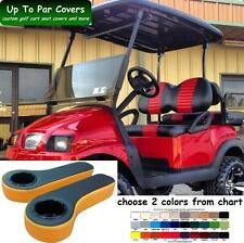 Club Car Precedent Golf Cart Front + Rear Flip Seat Cover + Rear Armrests Combo