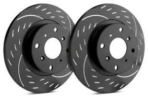 SP Rear Rotors for 2013 300 S - w/ Vented Disc | Diamond Black D53-024-BP3463