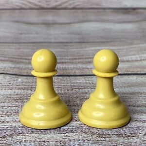 """Vtg Drueke Players Choice White Replacement 1 3/4"""" Pawns (from 3-3/4"""" King Set)"""