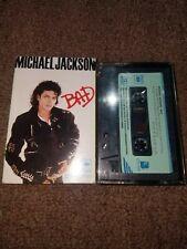 Michael Jackson BAD Audio Cassette Tape CBS KJPK-0555 Korean Import RARE