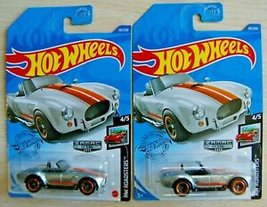 2- 2020 Hot Wheels ZAMAC  #15 Shelby Cobra 427 S/C Walmart Exclusive moc