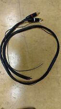 Technics SL1200/SL1210 Cable/Neutrik-RCA/Van Damme-Black Cable 1m+ earth/tined