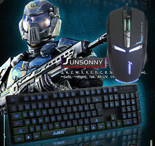 Ajazz Cyborg SOLDATO Retroilluminato Gaming Tastiera + 7D IRON MAN Gaming Mouse Set UK