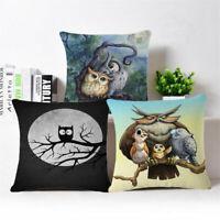 """18""""*18"""" Owl Sofa Pillow Case Cotton Linen Fashion Throw Cushion Cover Home Decor"""