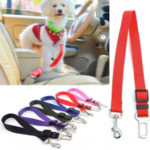 1x Dog Cat Puppy Adjustable Safety Car Strap Seat Belt Harness Lead Pet Supplies
