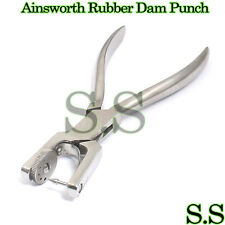 New-Ainsworth-Rubber-Dam-Punch-Pliers-Forceps-orthodontic-instruments-Stainless