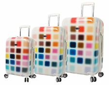 NEW Steve Madden Cubic Luggage 3 Piece Hardside Suitcase With Spinner Wheels