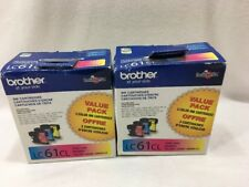 Lot Of 2: GENUINE BROTHER LC61CL INK CARTRIDGES CYAN, MAGENTA, & YELLOW Expired