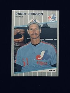 1989 Fleer Baseball RANDY JOHNSON Rookie Card RC #381 Expos *MINT*