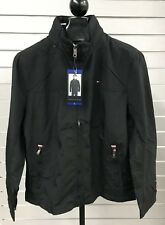 Tommy Hilfiger Men's Taslan Nylon Jacket Wind Water Resistant NWT Black Sz Large
