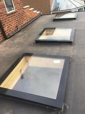Skylight, Rooflight Glass flat Roof light, roof lantern Glazing SILICONE - Black