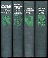 4 x AMERIKANISCHE LITERATUR, Hemingway,Faulkner, Buck, Steinbeck