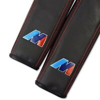 BMW M Sport Car Leather 2x Seat Belt Covers Pads Embroidery Accessories Edition