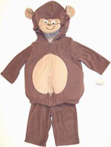 NWT Carter's Infant's Plush Fleece Monkey Halloween Costume, 6-9 Mos.