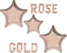 "ROSE GOLD STAR Shape Amscan 19"" 48cm Foil HELIUM Fill BALLOON Supplied Flat"