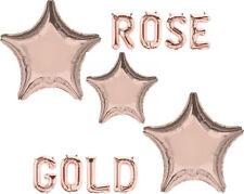"""Amscan 19"""" 48 cm Rose Gold Star Forma Stagnola Elio Palloncino Riempimento fornito piatto"""