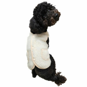 Pet Dog Clothes Warm Jumper Cute Vest Coat Apparel Fleece Jacket for Winter