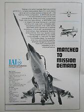 1/1978 PUB IAI ISRAEL AIRCRAFT KFIR C2 ARAVA 201 202 WESTWIND 1124 ORIGINAL AD