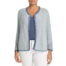 Nic + Zoe Womens Fringe Layering Open Front Sweater Cardigan Plus BHFO 5207